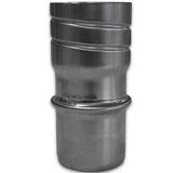 Aansluiting mannelijke buis naar Flexibel in RVS 316 van dikte 0.4 mm diamter van Ø 80 mm.
