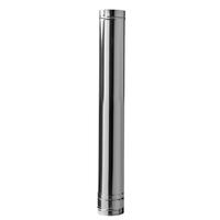 Dubbelwandig RVS Ø 80/130 recht element 100 cm
