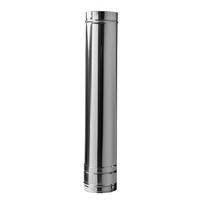 Dubbelwandig RVS Ø 80/130 recht element 50 cm