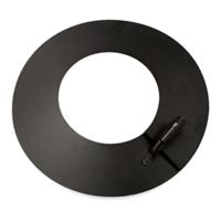 Platte stormkraag hoogte 20 mm zwart Ø 130/80 mm