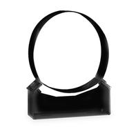 Gewone muurbeugel zwart Ø 80 mm