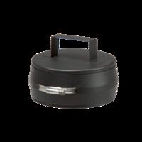 Dop zwart dubbelwandig voor T-stuk zwart Ø 130/80 mm