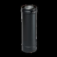 Dubbelwandig zwart Element 1000 mm Ø 80/130