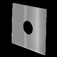 RVS Afdekplaat Flexibel Ø 100 mm
