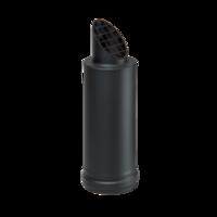 Horizontale pelletkachel uitgang zwart Ø 80 mm