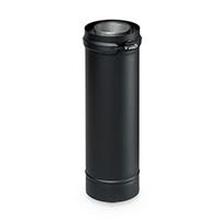 Dubbelwandig zwart Element 250 mm Ø 80 mm