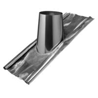 Dubbelwandig Ø 80/130 dakdoorvoer met loodslab hellend dak 5-30°
