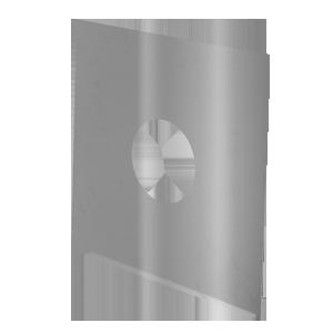 RVS plaat 330 x 330 mm Ø 100 mm